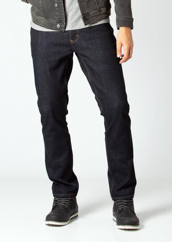 Midweight Dark Blue Stretch Denim Front