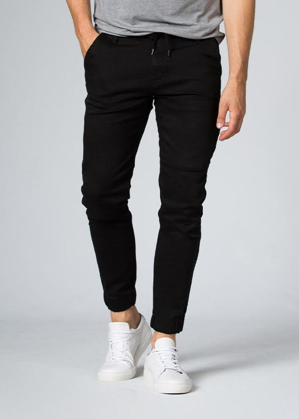 black athletic jogger front