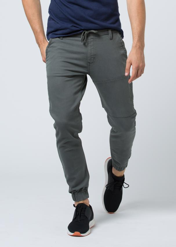 grey athletic jogger front