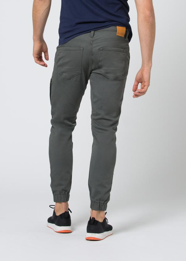 grey athletic jogger back