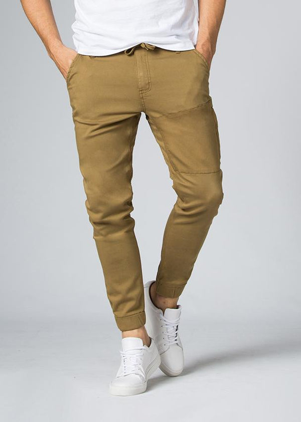 mustard athletic jogger front