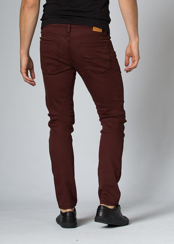 oxblood slim fit dress sweatpant back