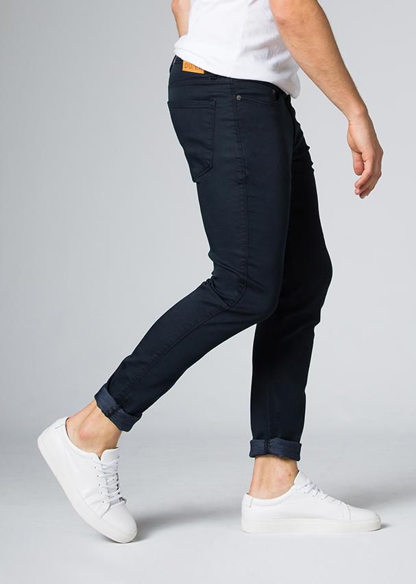 navy blue slim fit dress sweatpant side