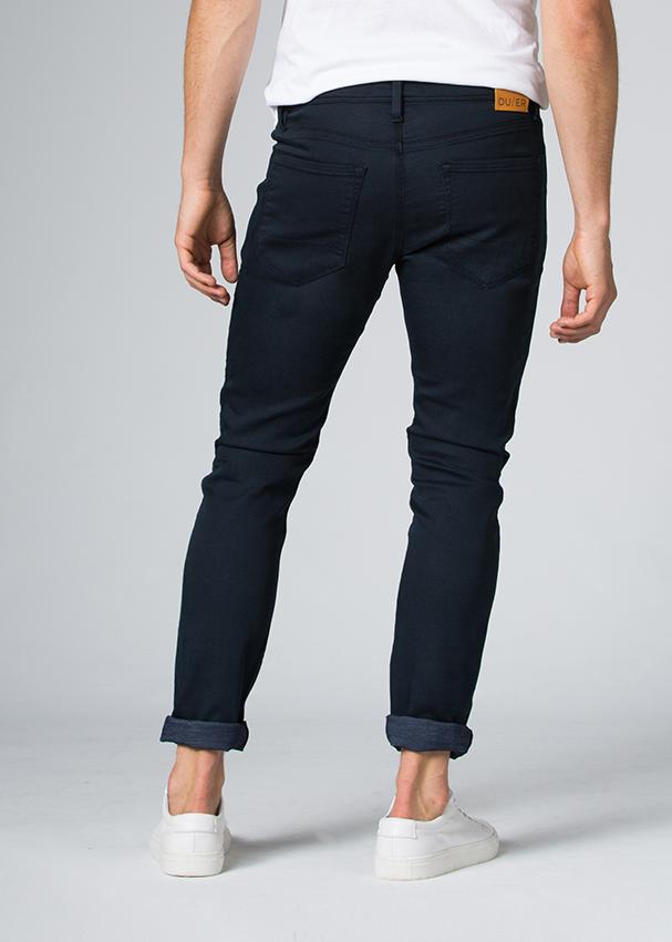 navy blue slim fit dress sweatpant back