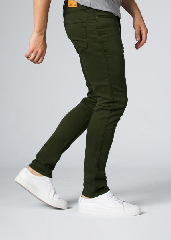 olive slim fit dress sweatpant side