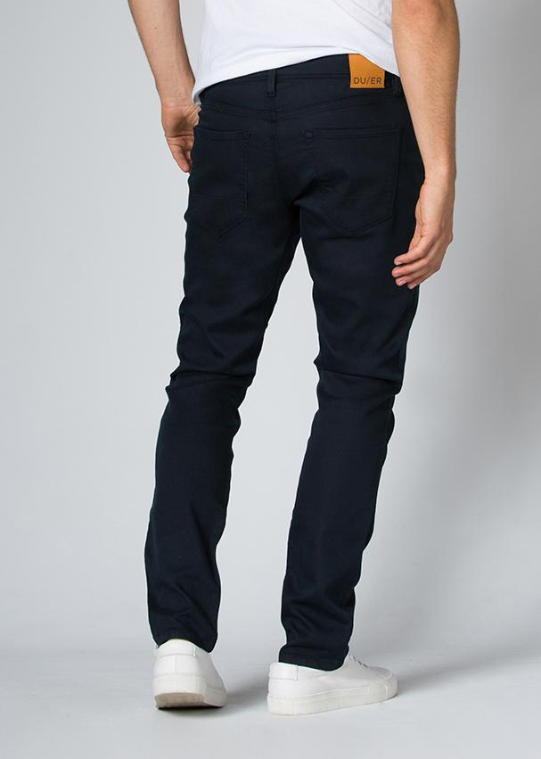 navy blue relaxed fit dress sweatpant back