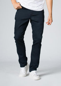 navy blue relaxed fit dress sweatpant front