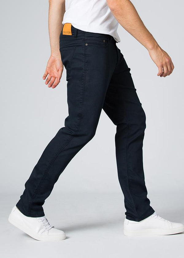 navy blue relaxed fit dress sweatpant side