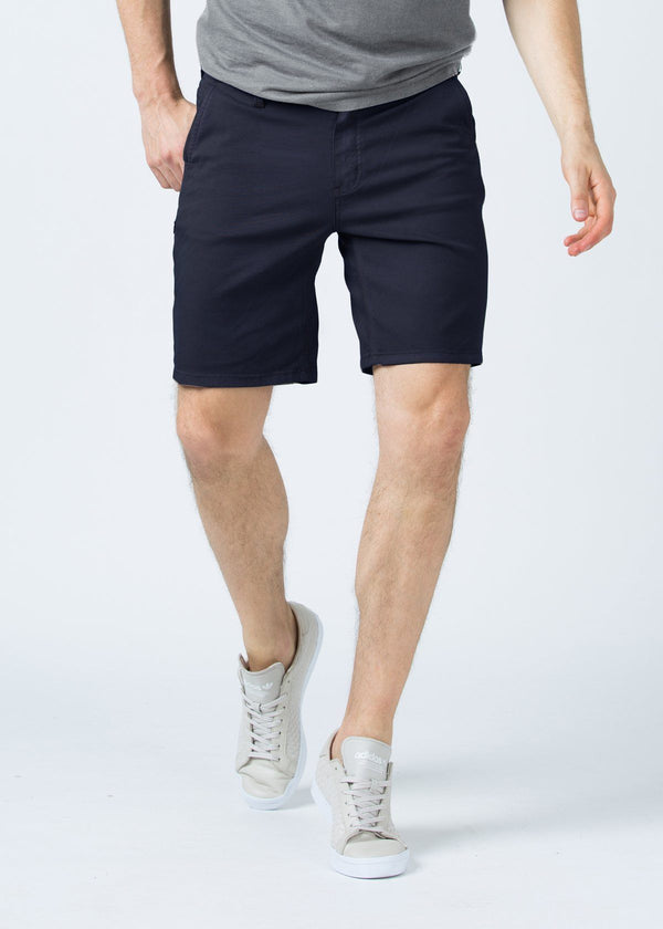 mens navy lightweight shorts front
