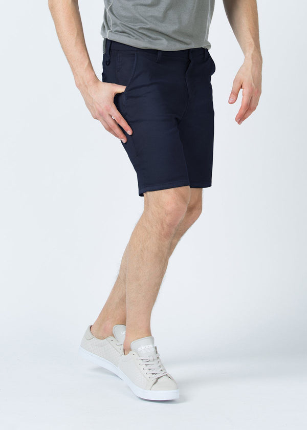 mens navy lightweight shorts side