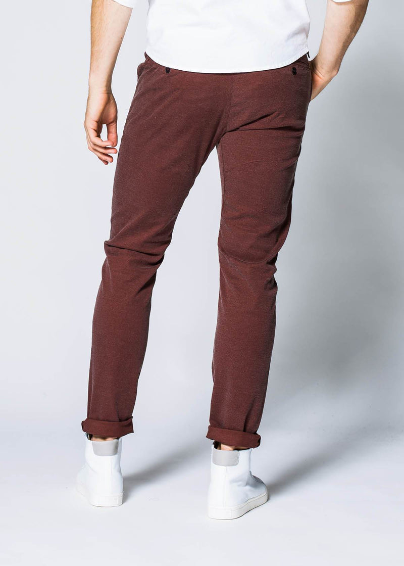 Live Free Chino Pant Slim - Oxblood Pants Duer