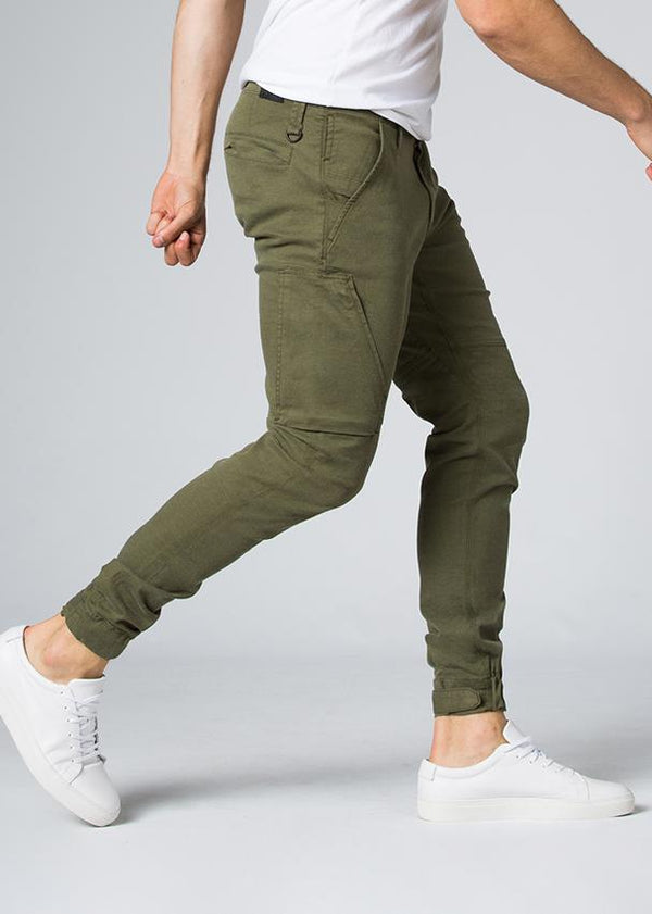 dark green athletic waterproof pant side