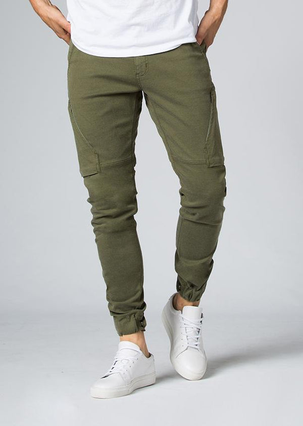 dark green athletic waterproof pant front