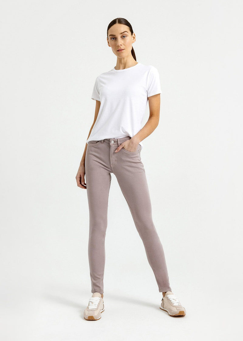 womens grey mid rise skinny fit dress sweatpant full body