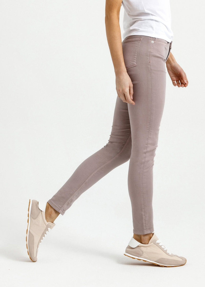womens grey mid rise skinny fit dress sweatpant side