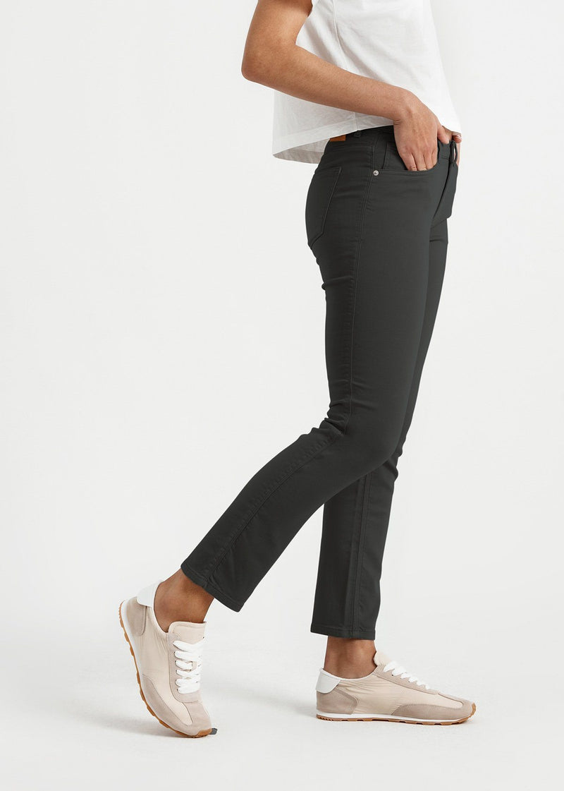 womens dark grey slim straight fit dress sweatpant side