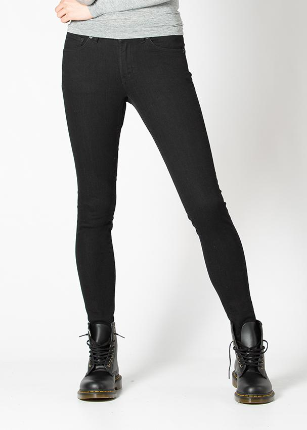 black skinny fit stretch jeans front