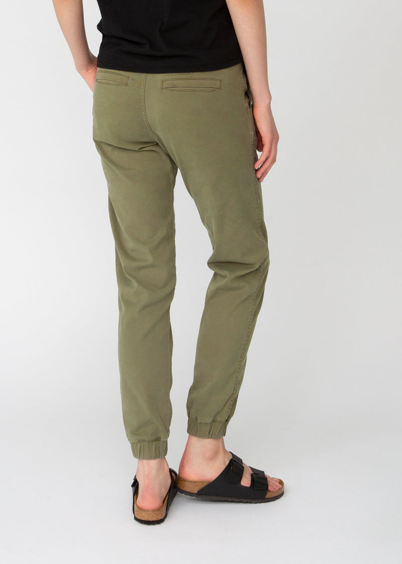 light green athletic jogger back