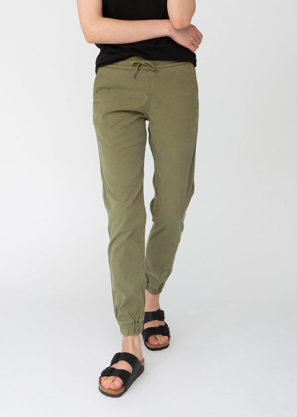 light green athletic jogger front