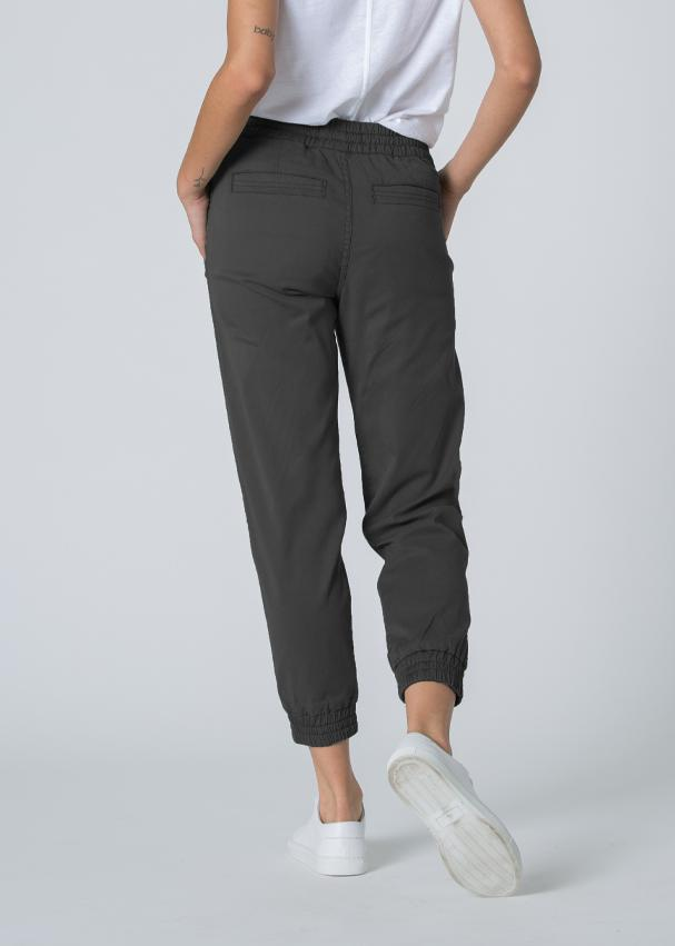 charcoal grey athletic jogger back