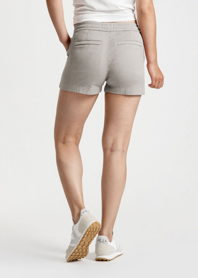 Womens grey summer stretch beach short back