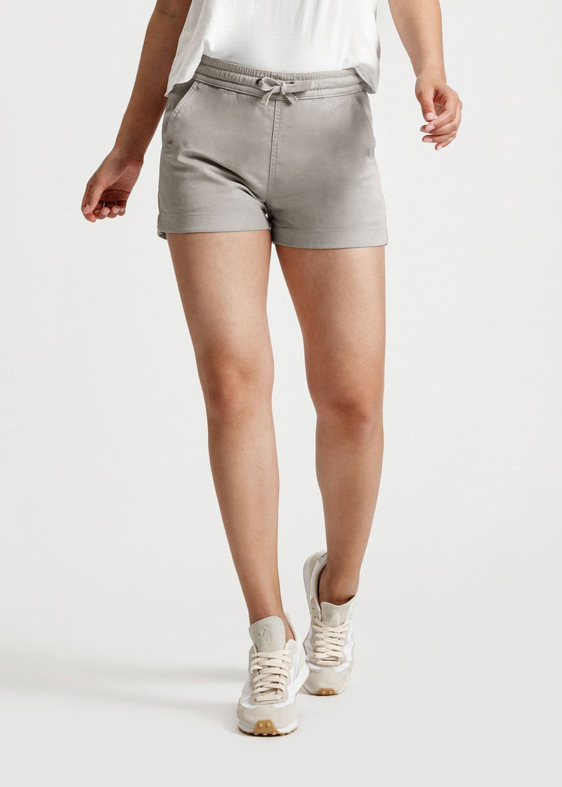 Womens grey summer stretch beach short front