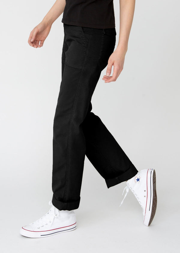 Womens lightweight utility pant black side