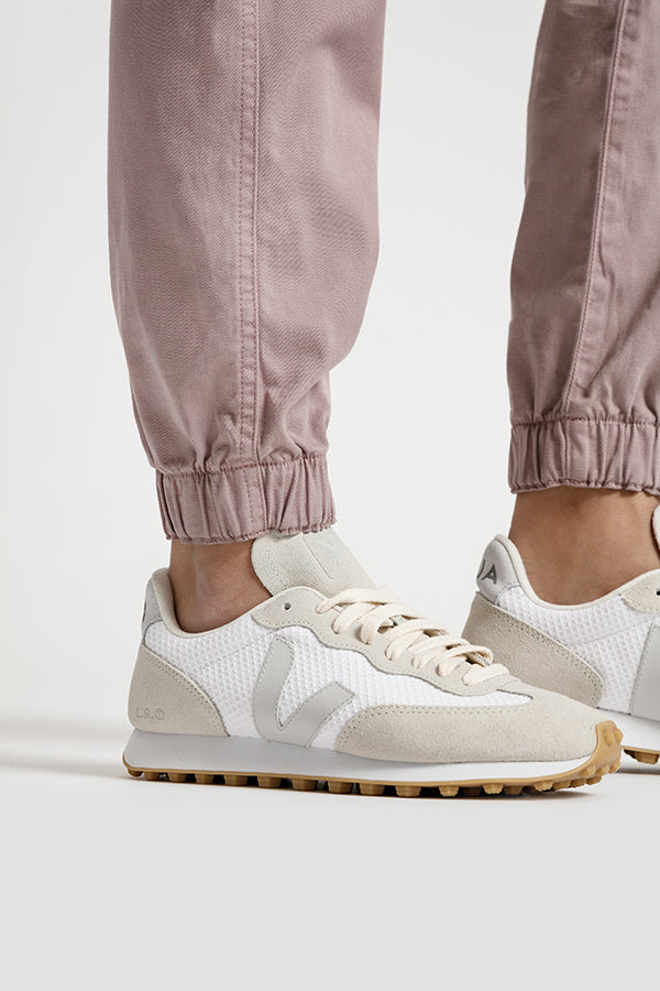 Womens pink athletic jogger cuff detail