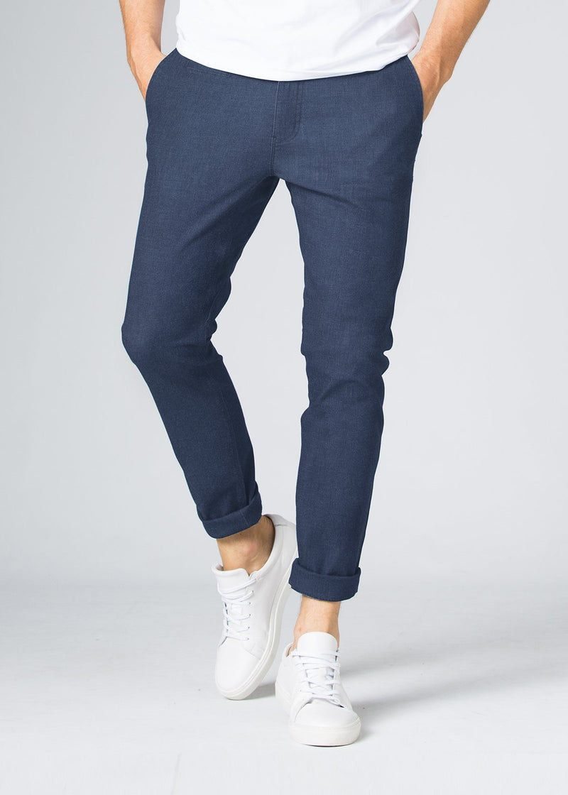 blue slim fit lightweight summer jeans front
