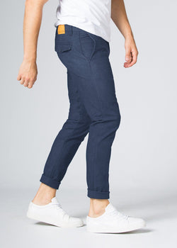 blue slim fit lightweight summer jeans side