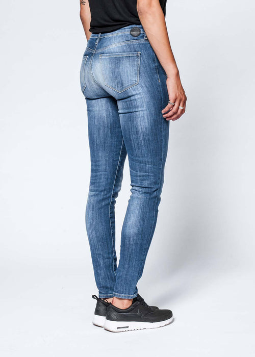 Dish by DUER Adaptive Denim Skinny - Medium Stone
