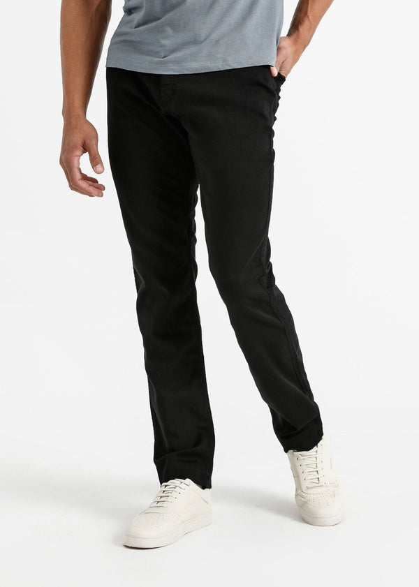 mens black relaxed fit dress sweatpant front