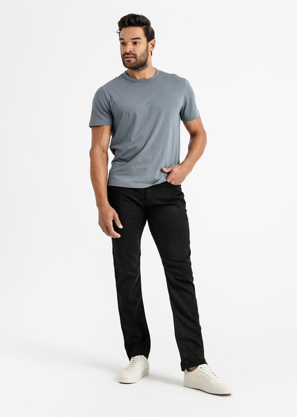 mens black relaxed fit dress sweatpant full body