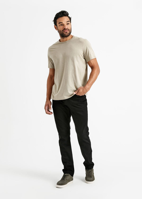 mens black relaxed fit stretch jeans full body