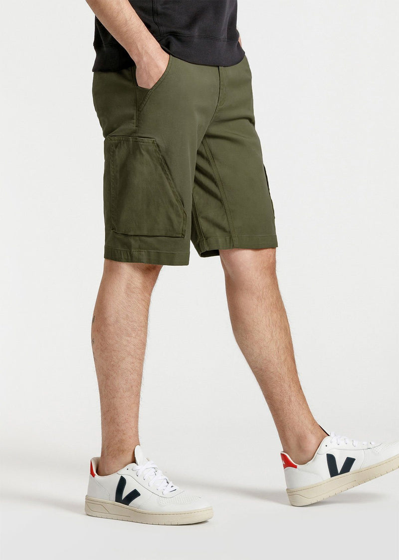 mens green athletic adventure pant side