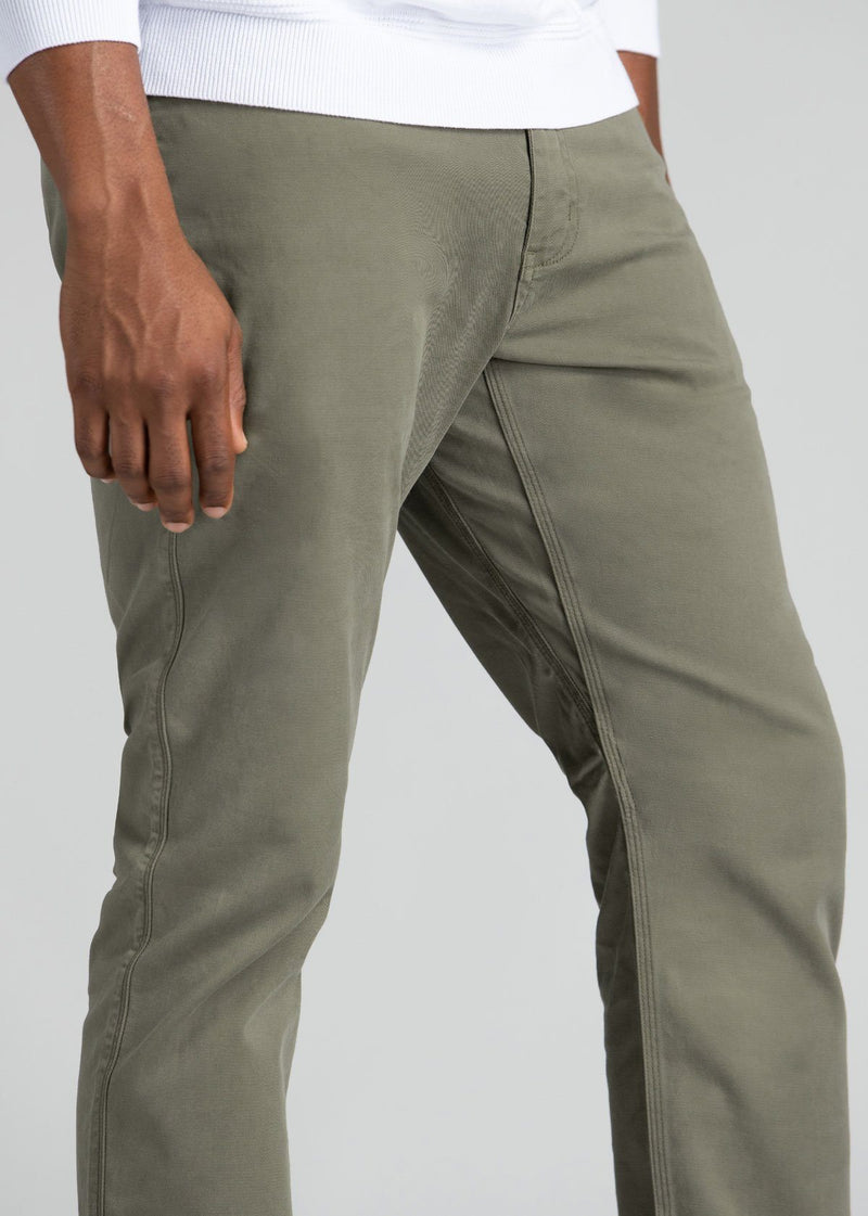 mens pale green lightweight relaxed pants gusset