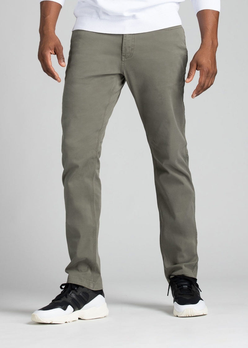 mens pale green lightweight relaxed pants front