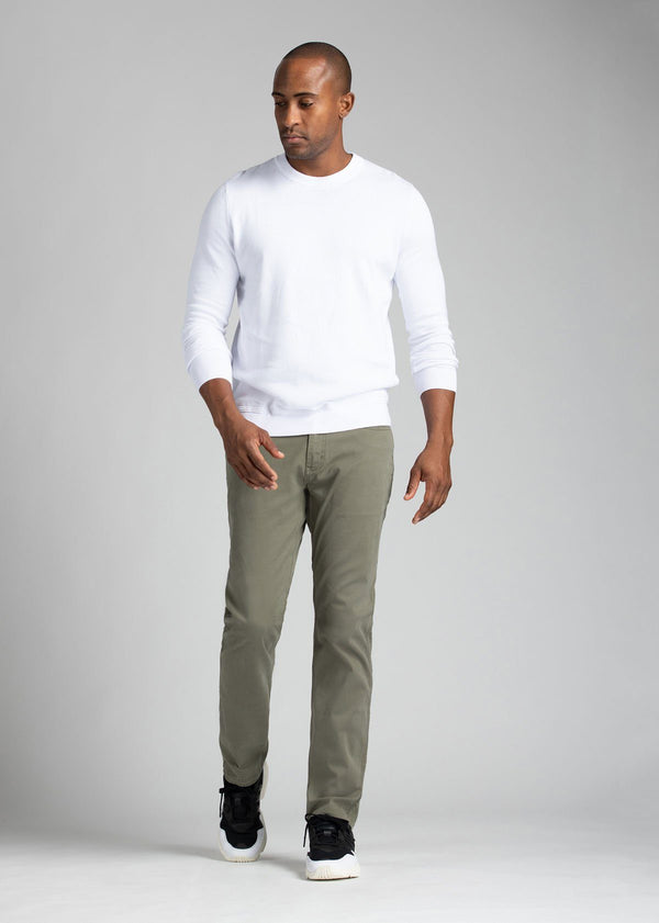 mens pale green lightweight relaxed pants full body