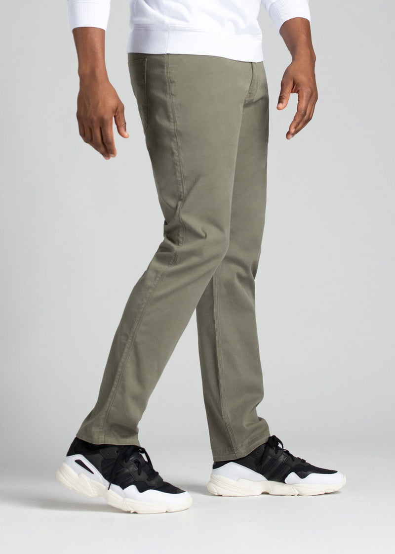 mens pale green lightweight relaxed pants side
