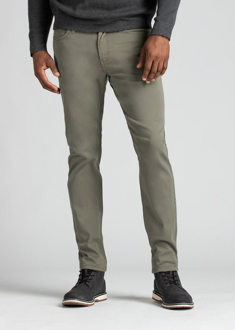mens pale green lightweight slim pants front