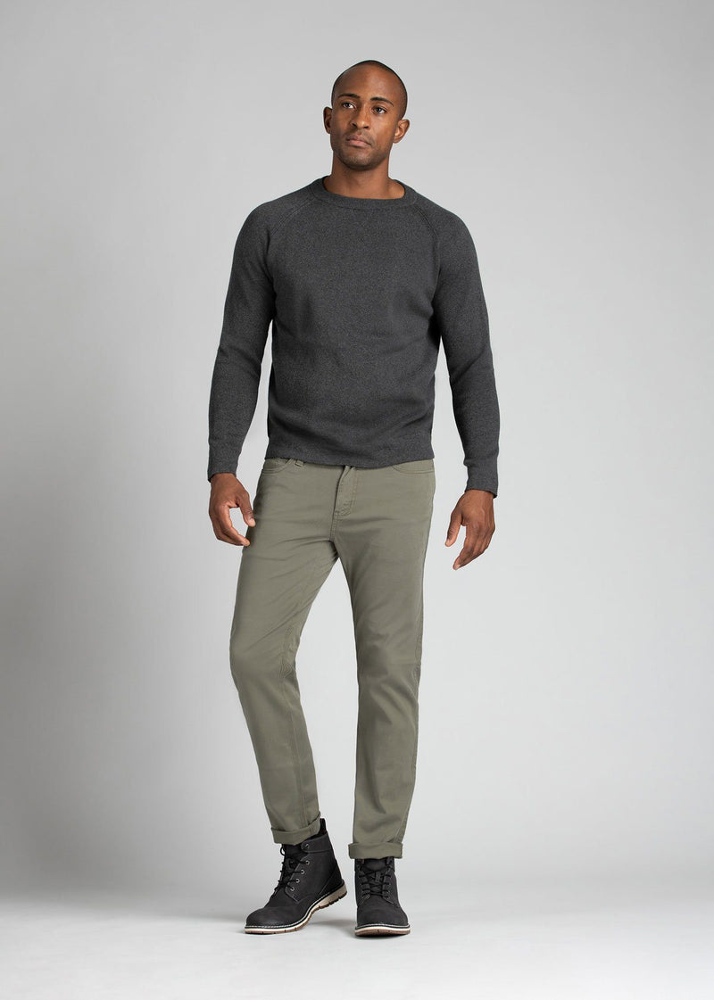 mens pale green lightweight slim pants full body