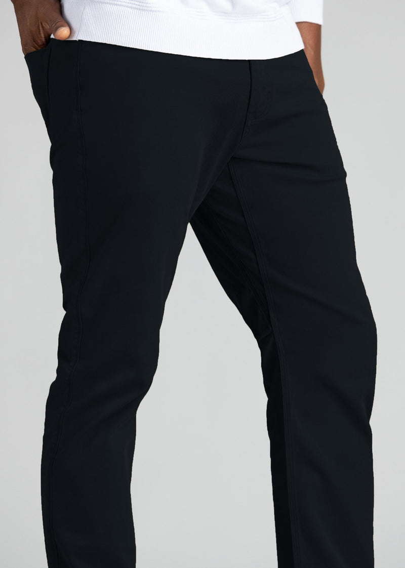 mens relaxed taper lightweight navy pants gusset