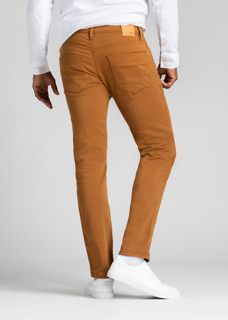 mens slim orange dress sweatpant back