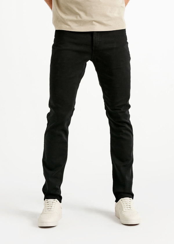 mens black slim fit dress sweatpant front