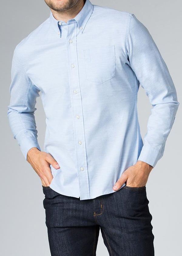 mens-stretch-dress-shirt-blue-front