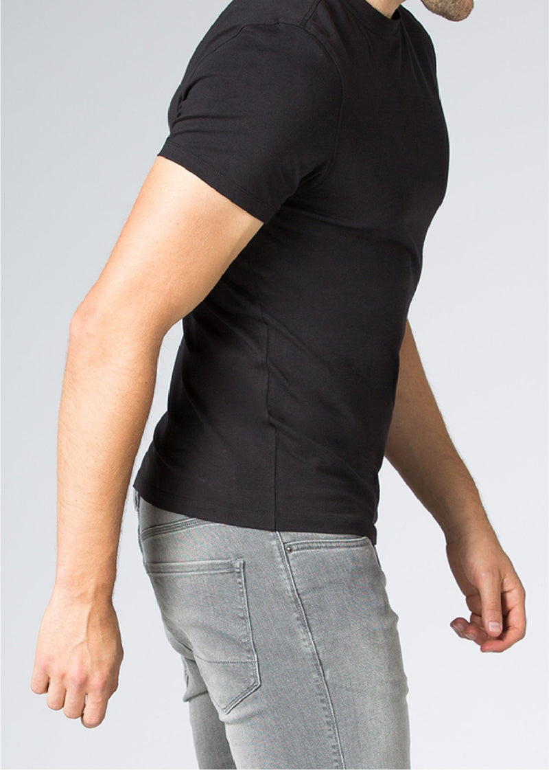 mens black breathable lightweight t-shirt side