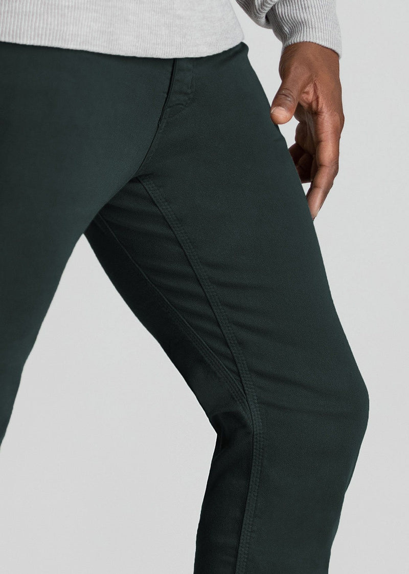 mens dark blue grey slim fit dress sweatpant side detail