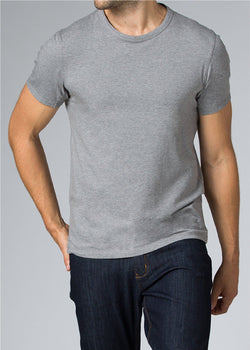 mens grey breathable lightweight t-shirt front