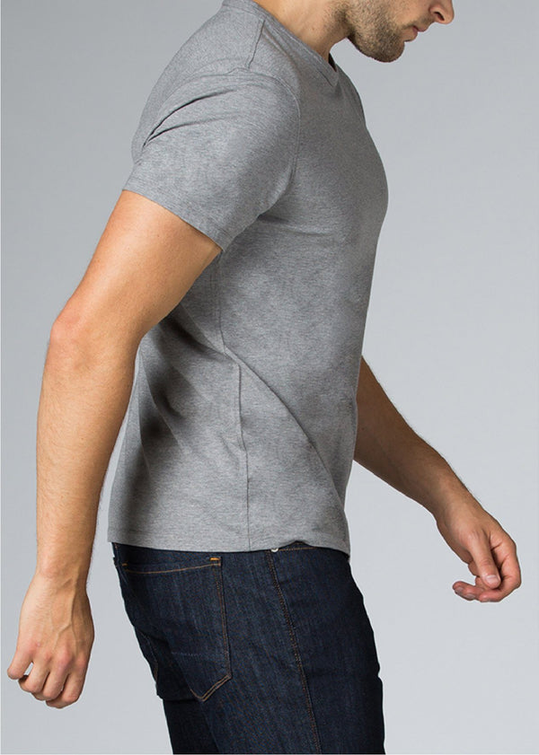 mens grey breathable lightweight t-shirt side