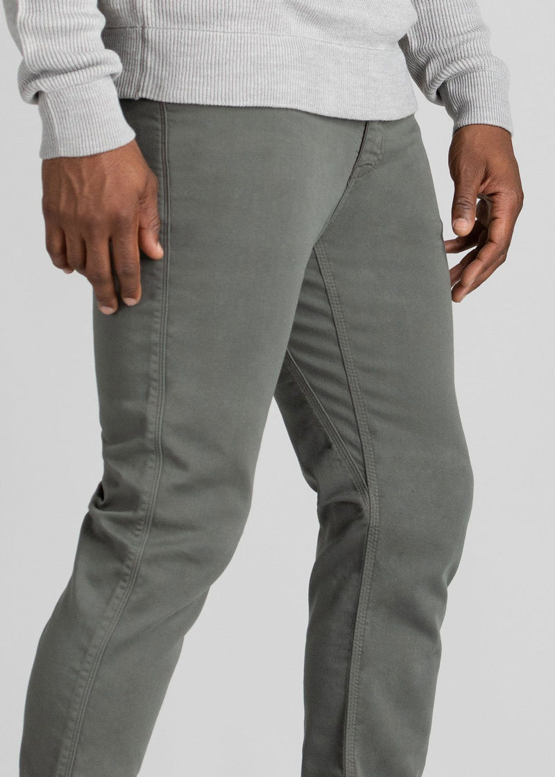 mens grey slim fit dress sweatpant side detail